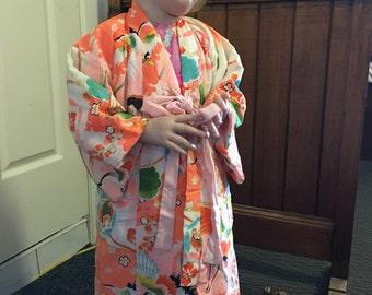 Child's lightly padded kimono jacket