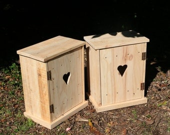 Bedside cabinets - recycled untreated pallets