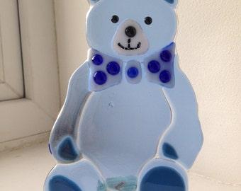 Fused glass Teddy bear