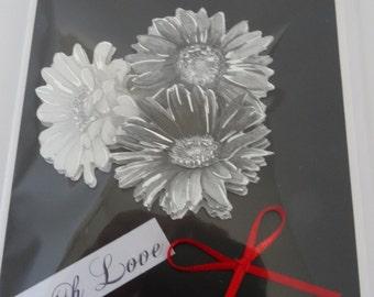 Floral Blank Card - Cardtwocard