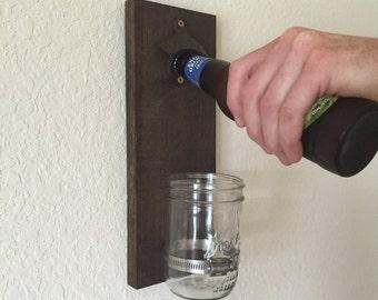 Rustic Mason Jar Bottle Opener – Groomsman Gift – Gift for Him – Gift for Dad – Gift for Boyfriend – Gift for Husband - Mason Jar Décor