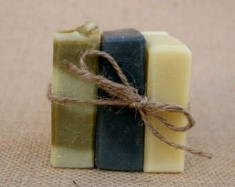 Pick 3 Small Organic Soaps - 1.5 oz Soaps, Mini Soap. Tester Soaps, All Natural Soap, Handmade Soap, Cold Process Soap
