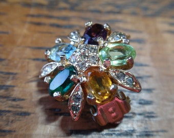 Panetta Rhinestone Clip On Earrings