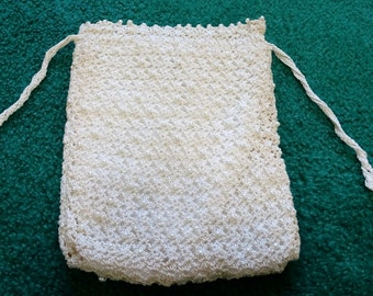 Hand made lace and pearl sachet/bridal bag