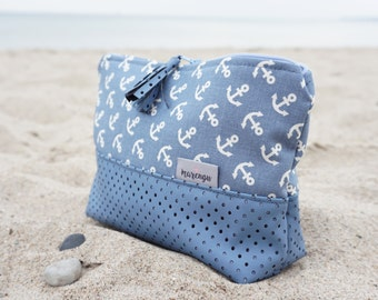 Cosmetic bag * pouch with anchor
