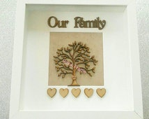 personalised family tree gift frame keepsake