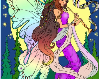 Coloring book for adults Amazing World of Fairies