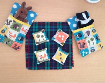 Sleeping bags and picnic rug for Sylvanian Families sized figures