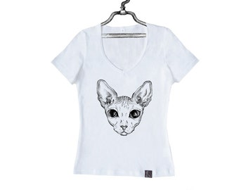 Women's T-Shirt The Shining Sphynx Cat  W-W