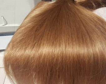 Russian Human Hair, Human Hair Extensions, Blonde, Cramel color, clip-in Remy hair extensions,100% Remy human hair, #17 Strawberry Blonde