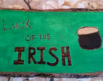 Luck of the Irish  wall plaque