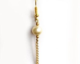 Dangling earrings fine Pearl