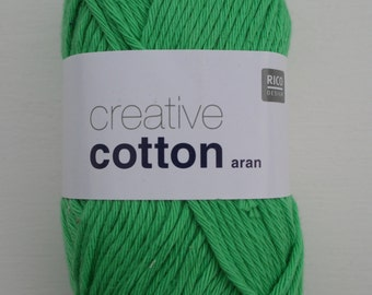 Rico Creative Cotton Aran Light Green 040