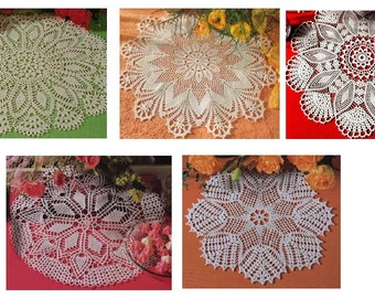 5 pcs crochet doily pattern-only diagram-in pdf-33