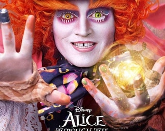 Alice Through The Glass Giclee Print Movie Poster FREE SHIPPING