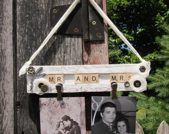 Mr. and Mrs. - With photo clips and Vintage pieces