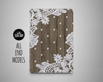 White Lace iPad Case Lace Wood iPad Mini Case iPad Mini 3 4 Cover iPad Cover iPad Air 2 Case iPad Sleeve Birthday Gift Idea iPad 3 4 Case