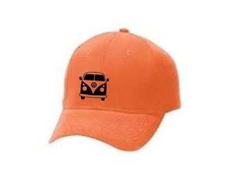 Printed Peaked Cap Camper Van Image