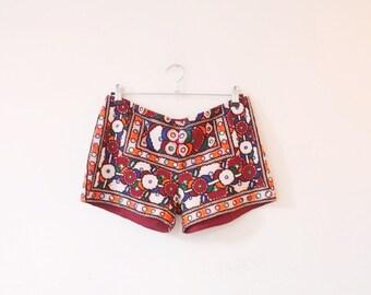 Vintage banjara indian hippie boho festival pants shorts M