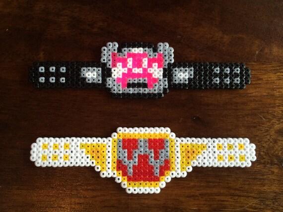 Wwe Wrestling Title Belts Pixel Art Bead Magnets By Pixelmart1