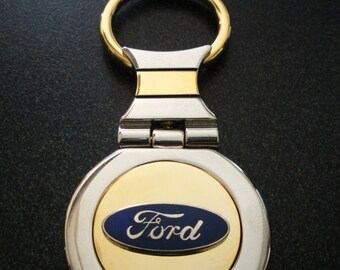Ford  18K Gold Keychain with Silver Trim-Free Engraving