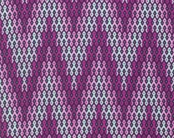 Tula Pink - Chipper - The Wanderer in Raspberry - pink purple chevron cotton fabric quilting cotton freespirit westminster