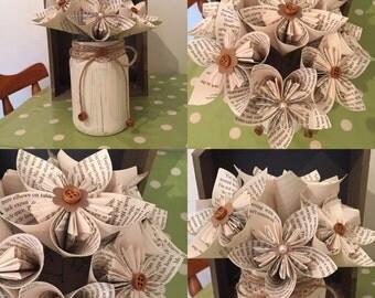Rustic Paper Flower Arrangement