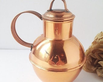 SALE Copper Guernsey Milk Can / Guernsey Milk Jug / Copper Milk Can / Copper Jug with Lid / Copper Decor / Handcrafted Copper Can / Coppercr