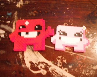 Super Meat Boy and Bandage Girl
