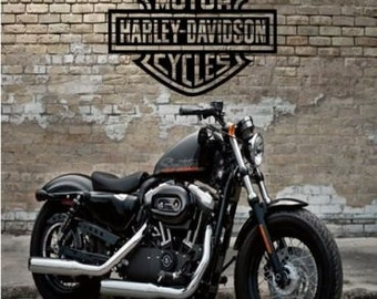 Personalised HARLEY DAVIDSON BIRTHDAY card any name /age motorbike free postage