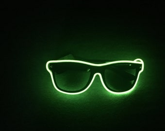 Green Neon Glasses