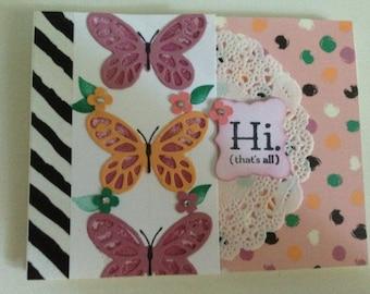 Handmade, HI. (that's all). Card