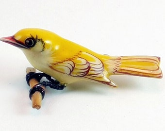 Takahishi Yellow Warbler Bird Pin