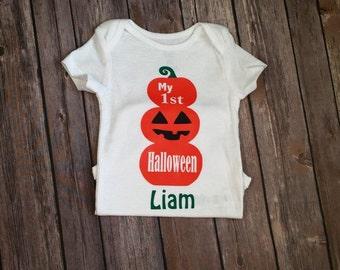 My first halloween bodysuit, halloween bodysuit, halloween outfit, baby halloween bodysuit, personalized halloween top, personalized