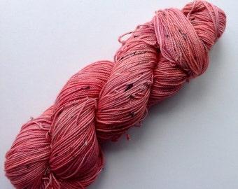 Coral - 100g 4ply Superwash Merino Sock Yarn - Hand Dyed