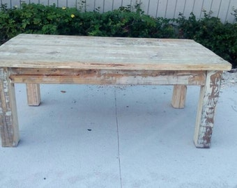 White coffee table Etsy