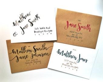 Hand Lettered Envelopes | Wedding Envelopes | Custom Envelopes | Watercolor or Ink Calligraphy | Custom Size, Color, Etc | FREE SHIPPING