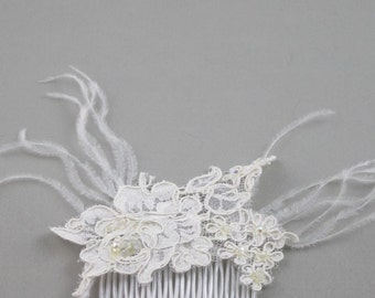 comb hair lace wedding