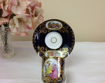 19th Century 'Royal Vienna' Chocolate Cup and Saucer