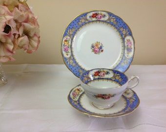 Paragon Star China Cup Saucer & Sideplate Trio