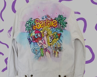 Barbie hand paint denim jacket