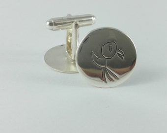 Kids design cufflinks - perfect gift for dads - for grandpa - Filii - Custom made