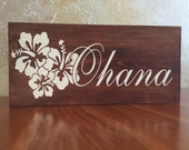 Hawaiian Style Ohana ( family ) Wall decor