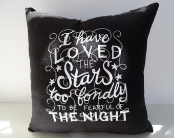 Pillow - Embroidered Pillow - Word Art