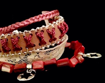 Playa pink Cuff Bracelet