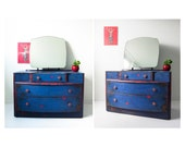 Dressing table Napoleonic Blue Shabby Chic Dressing Table