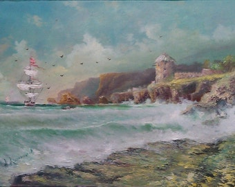 """Oil painting """"The Sea"""""""