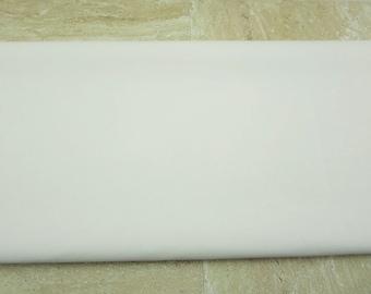 White PU Leather Fabric 50cm x 65cm