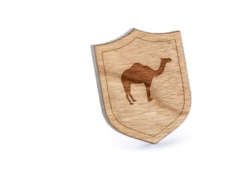Camel Lapel Pin, Wooden Pin, Wooden Lapel, Gift For Him or Her, Wedding Gifts, Groomsman Gifts, and Personalized