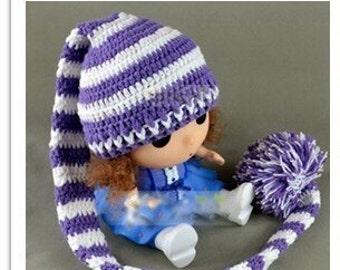 Long crochet hat